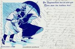 lustige alte Postkarte